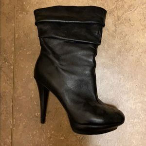 Jessica Simpson high heels leather boots.